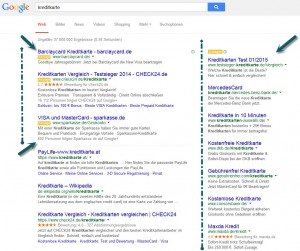 Google AdWords Bereiche